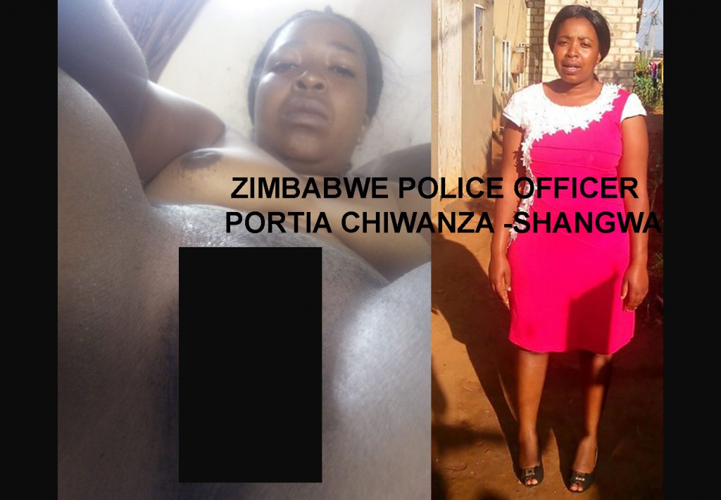 The nude image said to be Zimbabwe police officer and